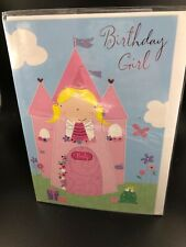 Greeting Card Birthday 'Happy Birthday' Young Girl Fairy Princess