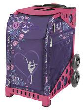 Zuca Bag Gymnast Insert & Pink Frame w/Flashing Wheels - Free Seat Cushion
