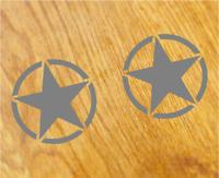 US ARMY STAR Aufkleber Sticker USA Decal STERNE Zeichen Oldschool Tuning Hotrod