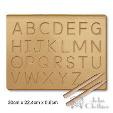 Kids Alphabet Tracing Wooden Board A to Z Writing skills Practice Preschool toy