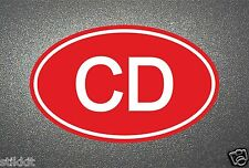 CD CORPS Diplomatic RED STICKER Sign Seal for Auto Car Bumper Window Aufkleber