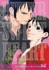One Piece YAOI Doujinshi Dojinshi Comic Trafalgar Law x Luffy Bitter Sweet Heart
