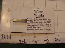 vintage ADAM'S circa 1950's trick ---card only---: WATCH WINDER #2
