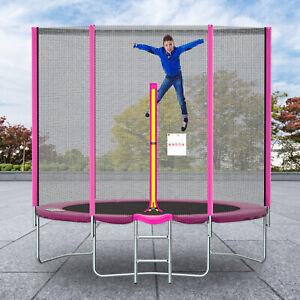 Ø 244 305 366cm Fitness Trampolin Nonmon Komplettset Gartentrampolin 8-12FT Rosa