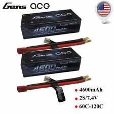 Gens ace 4600mAh 7.4V 60C 2S HardCase Lipo Battery Shorty Pack RC Buggy Car Boat