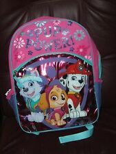 "Paw Patrol 16"" School Backpack PUP POWER FOR GIRLS"