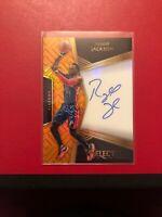 2016-17 Panini Select Orange Prizm Reggie Jackson AUTO #'D /60 Detroit Pistons!