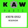 43078-0552 Kawasaki Reservoir 430780552, New Genuine OEM Part