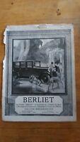 PUBLICITE ANCIENNE - PUB ADVERT 1925 automobiles Berliet dos divers