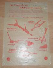 dachbodenfund alt prospekt blatt al-ko agrar fahrzeug zubh. 1959 reklame werbung