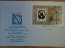 DDR - FDC MiNr. Block 101, 125 Jahre ITU, M€ 12,00