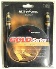 RadioShack AV 6 Foot Cable 15-1519 Gold Series Mono Tv Cable Wire