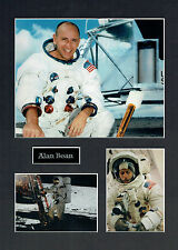 Alan BEAN Apollo 12 16x12 Mounted Photo Astronaut Space Montage
