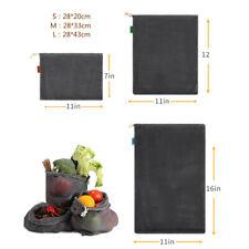 Reusable Produce Shopping Bags Organic Cotton Mesh Vegetable Fruit Storage Pouch