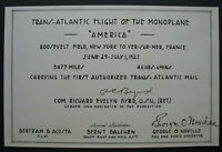 s2072) Trans-Atlantik Flug 1927 Unterschrift Com. Richard Byrd, Balchen, Noville