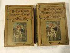 Vtg Antique Medical Homeopathy Books Cures Treatment Disease Illustration Botany