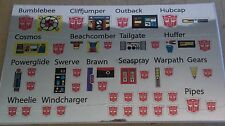 A Transformers premium quality replacement sticker/decal sheet for G1 Minibots