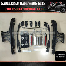 One Touch Opening Saddlebag Latch Lids Hardware Kit For Harley Touring 14-18 US