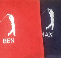 Personalised Embroidered GOLF towel With Large Logo And Name
