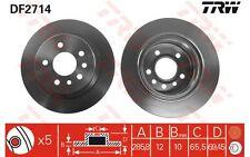 TRW Juego de 2 discos freno 286mm OPEL OMEGA VAUXHALL DF2714