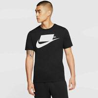 Nike NSW Sportswear Sport Pack Logo Tee Mens T-Shirt Black Size M Casual Top