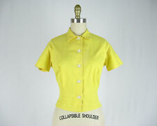 New listing Vintage 1950s Yellow Cotton Shirt by White Stag Size S