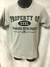 Indy 500 PROPERTY OF INDIANAPOLIS MOTOR SPEEDWAY Grey T-Shirt SIZE SMALL $25 NWT