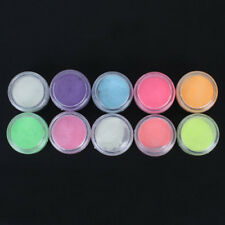 10 Farben-Frauen-Nagel-Kunst-Leuchtpulver Glow In Dark-Beauty Nail Art Powder.