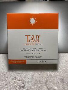 TanTowel CLASSIC Self-Tan Towelettes Total Body Fair to Medium 5 Towelettes .5oz