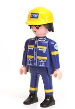 Playmobil Figure THW Rescue Worker Technician w/ Hard Hat 4082 4087 5097
