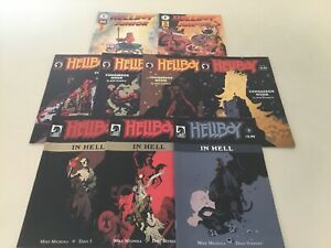 Hellboy In Hell Conqueror Worm Junior Lot NM Dark Horse Comics. 9 Issues