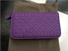 NIB 100% AUTH Bottega Veneta Intrec. Nappa  Zip Around Wallet in Byzantine $760