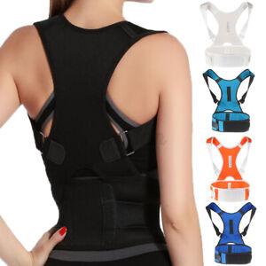 Unisex Magnetic Posture Corrector Support Brace Adjustable Shoulder Back Bel