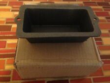 Case of Six Black Cast Iron Mini Loaf Pans 3x6 Inches Heavy Duty