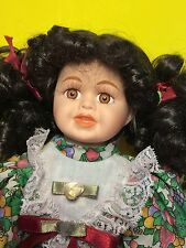 1997 Heritage Mint Ltd Brown Hair Porcelain Doll Collectible Gift
