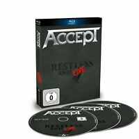 ACCEPT Restless And Live (2017) Limited Edition 2xCD + Blu-ray set NEW/SEALED