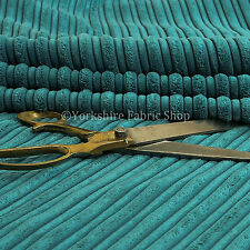 Furnishing Upholstery Fabric High Low Soft Velvet Textured Cord New Blue Colour