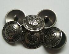 8pc 23mm American Inspired Pewter Colour Metal military Button  2251