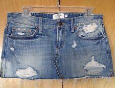"Juniors Women's Abercromie & Fitch Micro Mini Jean Skirt 2 EUC W-32"" L- 10"""