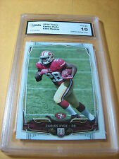 CARLOS HYDE 49ERS 2014 TOPPS # 383 ROOKIE RC GRADED 10