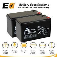 2 Pack   12V 7AH SLA Rechargeable Battery for APC IBM Belkin UPS Backup
