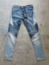 RARE! Levis Lo-Ball Stack Patchwork Denim Premium Jeans Big E sz 34 nwt
