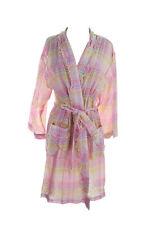 NWT NEW Miss Elaine Woven Cotton Wrap Robe 314705 Pink Multi Plaid XL