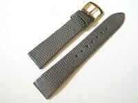 "Hadley-Roma MS700 18mm Watch Strap Men""s Gray Genuine Lizard"