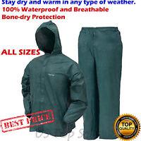 Frogg Toggs Rain Suit for All Sport Jacket & Pants Lite Wear Green S/M/L/XL/XXL