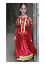 Childs Red Medieval Queen Costume Ex Hire Fancy Dress Age 6 - 8 Years P9203