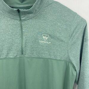 Under Armour TOP GOLF Green 1/4 Zip Pullover Sweatshirt  Mens Sz XL