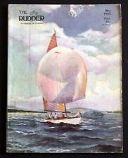 Vintage Rudder Magazine May 1945 Yachtsmen Motor Boating Sailing Evinrude Ad
