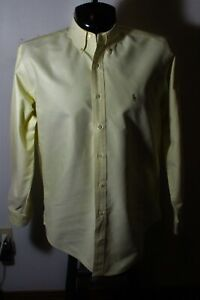 "Men's LAUREN Ralph Lauren Yellow ""Yarmouth"" Oxford Dress Shirt Size 16/35 NWOT"