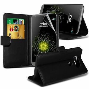 PU Leather Wallet Book Stand Phone Wallet Flip Case Card Cover LG G5 + SP
